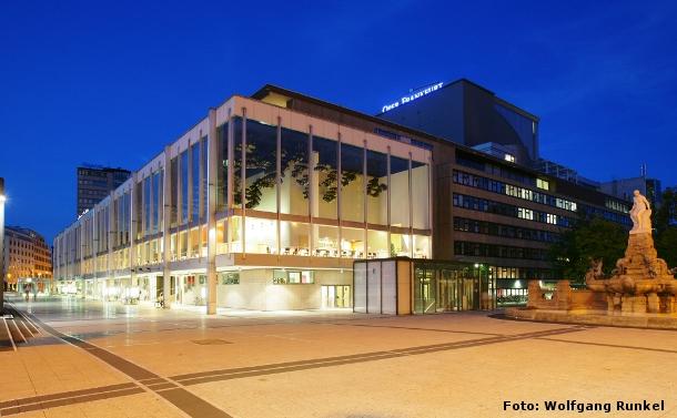 Aussenansicht Oper Frankfurt, Foto: Wolfgang Runkel
